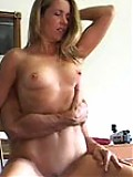 Juicy experienced chick swallowing cock
