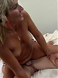 Lusty older chick riding thick rod