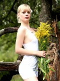 Which is prettier, the flowers, the white dress or Tasha? That was rhetorical question.