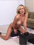 Sexy Blonde Wife Rides the Sybian