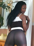 Slutty Black Babe In Pantyhose