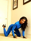 Hardbody in a tight plaid zentai suit