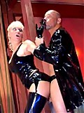 Busty Blonde In Sexy Latex Gets Fucked By Man In Latex