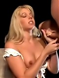 Two interracial amateurs enjoy giving handjobs and blowjobs