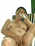 Sexy pick-up mom masturbates with dildo and takes a cock ride