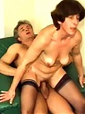 Mature woman spreads pussy to get it on hard and suck dick