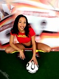 Get dirty and wet on a hot femalel fan of Angola football team.