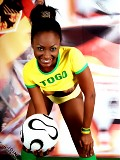 Get the hot football babe of Togo's national team.