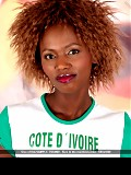 Cote D' Ivoire's exotic dream soccer-chick gets horny!