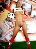 England's hot cheerleader strip-off their clothes