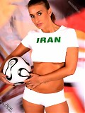 Iran's football babe shows stripping down