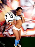Argentina's hot goddess in football outfit!