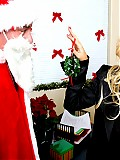 Naughty boss Britney Andrews hardcore fucked in her office by Santa Claus