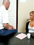 Big titted Shyla Styles gets fucked at work in the break room