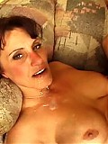 Older slut loves to have her pussy pounded and a rain of cum