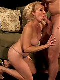 His friends hot mom sucks his big hard cock!