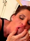 Mature lady sucking cock and getting wet pussy licked
