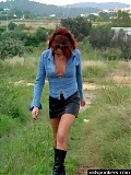 Milf likes getting it on in the outdoors