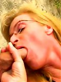Naughty blonde milf jams a pulsating cock in her tight pussy