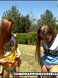 cheerleader first timers get creamed straight up their throats