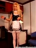 Hot maid tidies up
