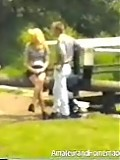 Girl gets assfucked outside