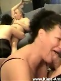 Kim and her old friends fuck hard