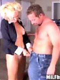 Cute blonde milf gets crushed on her lunch break in these movies