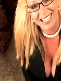 I asked what you all wanted to see in my next video....you told me you wanted to see a nice messy facial. I took it a step further and wore my sexy secretary outfit and glasses.