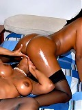 Amzing rane and her smokin sexy ass ebony girlfriend get toghether for the hottest bedroom threesome vids