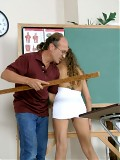 Slutty Sabrina is spanked by her teacher