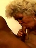Old lady sucks cock and fucks!