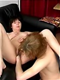 Oversexed mom enjoys cock-sucking and fisting