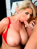 Penny Porsche rides this big hard young cock til she cums