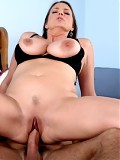 Thick milf with huge tits gets filled by a young cock