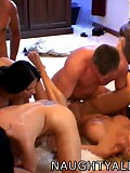 Four Couples Fucking In Living Room Orgy