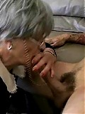 Old grandma fucked wildly on the couch