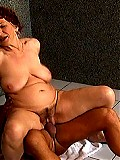 Dirty old lady shows younger man how to fuck