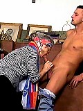 Dirty old granny drilled by her young lover