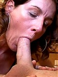 Horny housewife polishing the knob