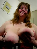 Mature chunky slut sucking and playing