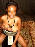Busty Ebony Girl Orgasms While Riding On the Sybian