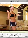 Carla doing her exercises on video