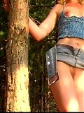 Very hot movie at pine-tree forest of my girlfriend