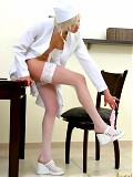 Sultry teen blonde gets naughty dolled up as nurse