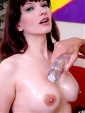 Horny mature Carrie Ann showing massive bust in hardcore
