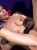 Aged MILF fucked by a mechanic outside.