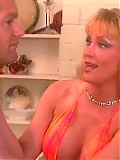 Blonde MILF slut enjoys giving and receiving oral.