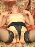 Hairy blond grandma gets young tender cock