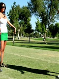 Sophia Lomeli takes her golf helper home and fucks his massive cock